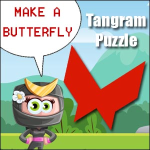 butterfly tangram puzzle