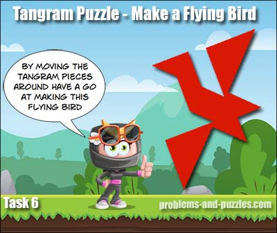 flying bird tangram puzzle
