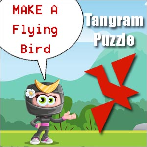 flying bird tangram