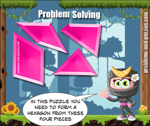 Hexagon puzzle - Excellent Solving Problem Lesson