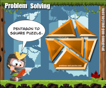 Pentagon to Square Puzzle 1 - Excellent Solving Problem Lesson