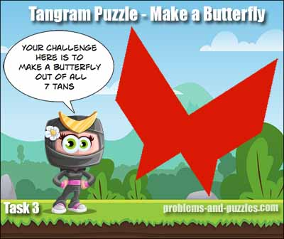 Tangram Puzzle - Butterfly