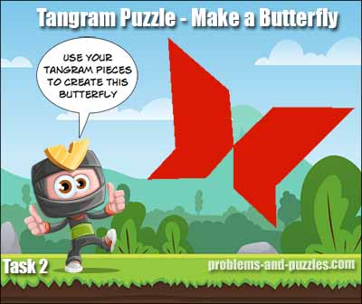 tangram puzzle butterfly